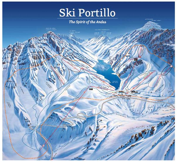 Portillo - mapa das pistas