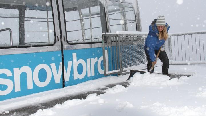Muita neve para ser removida na gôndola de Snowbird